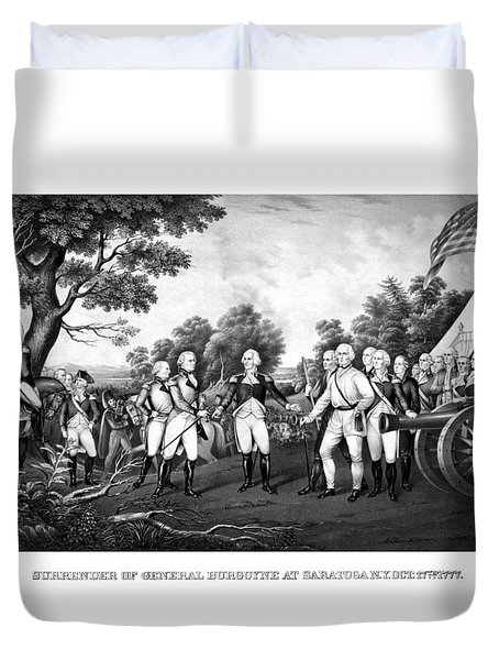 The Surrender Of General Burgoyne Duvet Cover by War Is Hell Store