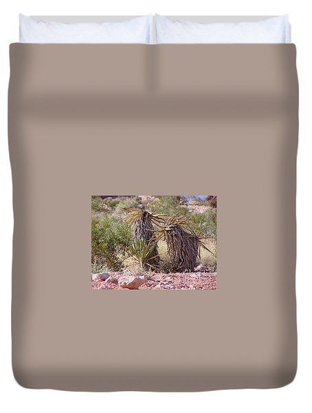 The Survivors At Red Rock Duvet Cover