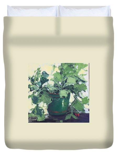 The Sweet Potato Plant Duvet Cover