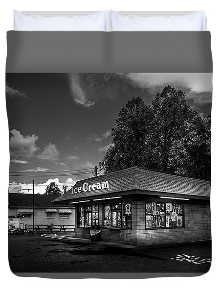 The Sweet Tooth In Black And White Duvet Cover