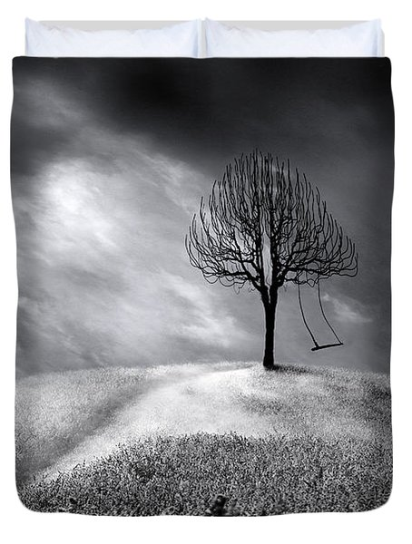 The Swing That Swings Alone Duvet Cover by Gray  Artus