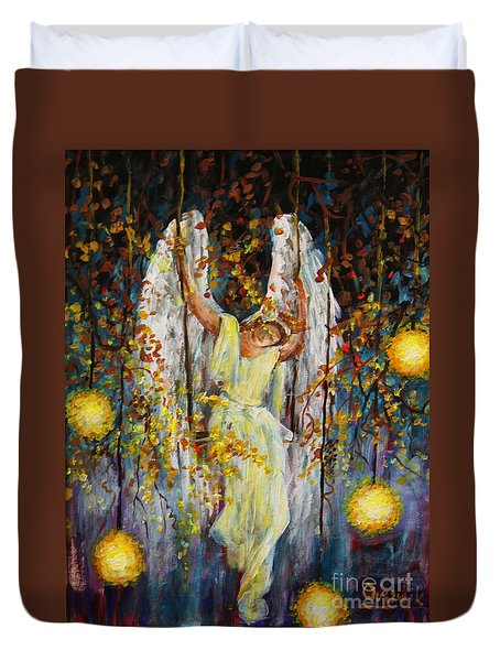The Swinging Angel Duvet Cover