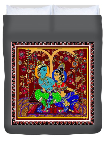 The Swinging Passions                         Duvet Cover by Latha Gokuldas Panicker