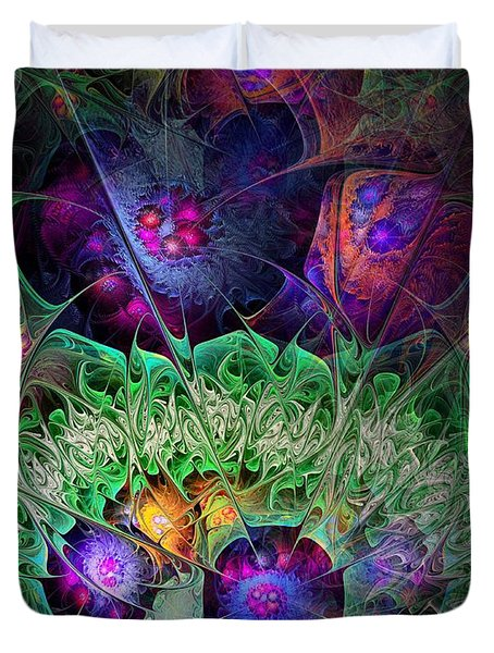 Duvet Cover featuring the digital art The Taiga by NirvanaBlues