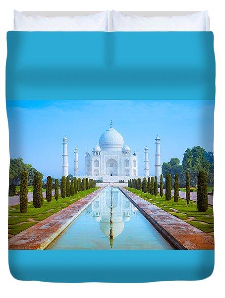 The Taj Mahal Of India Duvet Cover