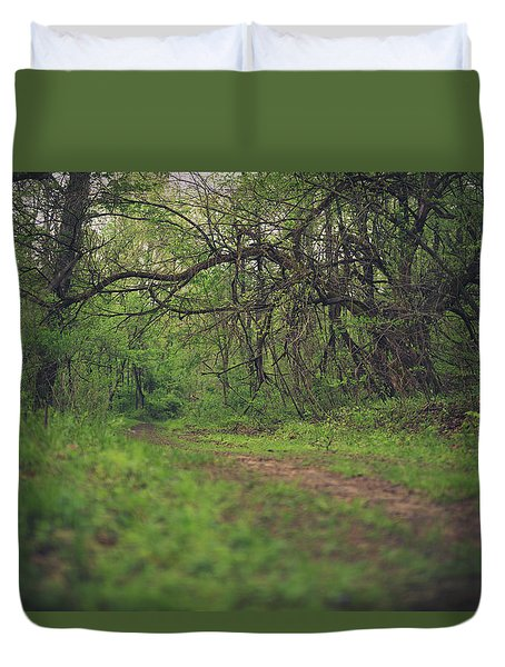 Duvet Cover featuring the photograph The Taking Tree by Shane Holsclaw