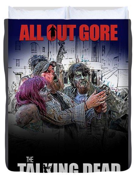 Duvet Cover featuring the digital art The Talking Dead by John Haldane