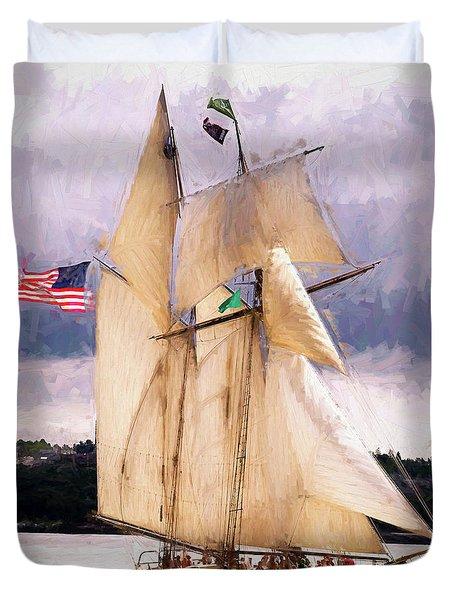 The Tall Ship The Lynx, Fine Art Print Duvet Cover