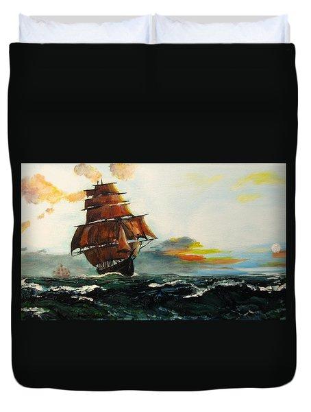 The Tall Ships Duvet Cover
