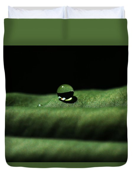 The Tao Of Raindrop Duvet Cover by Connie Handscomb
