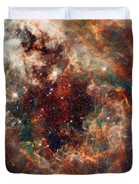 The Tarantula Nebula Duvet Cover by Nicholas Burningham