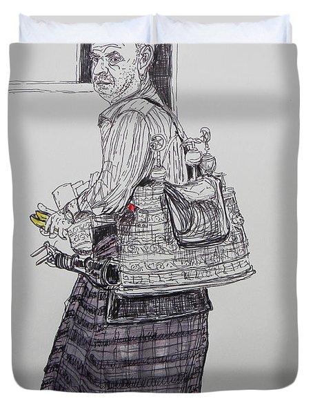 The Tea Man The Souss Vendor Duvet Cover