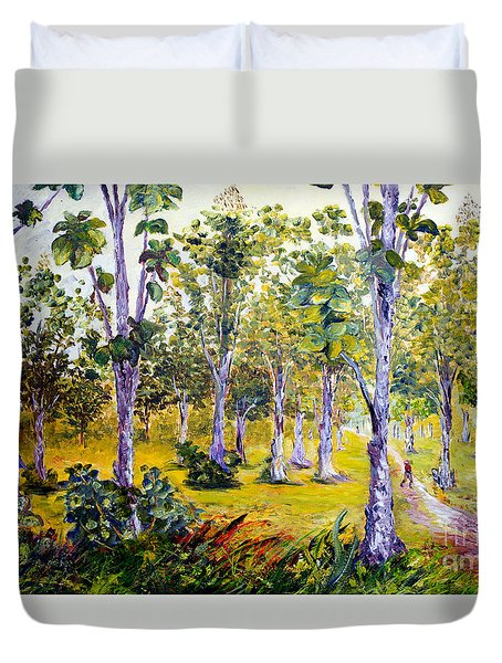 The Teak Garden Duvet Cover