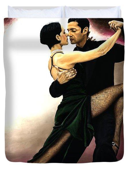 The Temptation Of Tango Duvet Cover