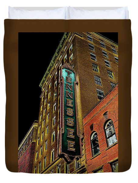 The Tennessee Theater In Knoxville Duvet Cover by David Patterson