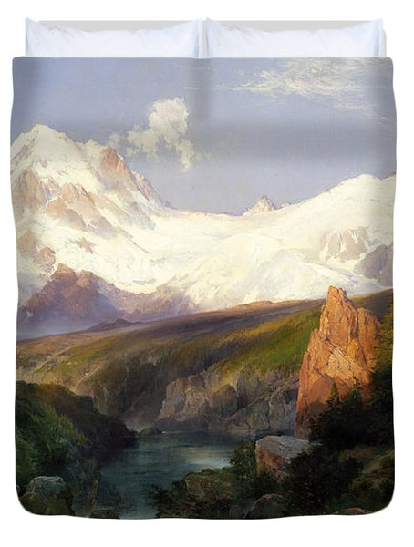 The Teton Range, 1897 Duvet Cover