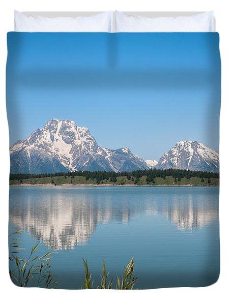 The Tetons On Jackson Lake - Grand Teton National Park Wyoming Duvet Cover