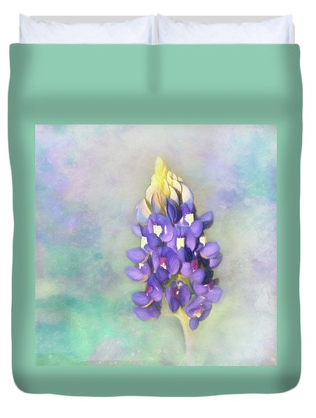 Duvet Cover featuring the photograph The Texas State Flower The Bluebonnet by David and Carol Kelly