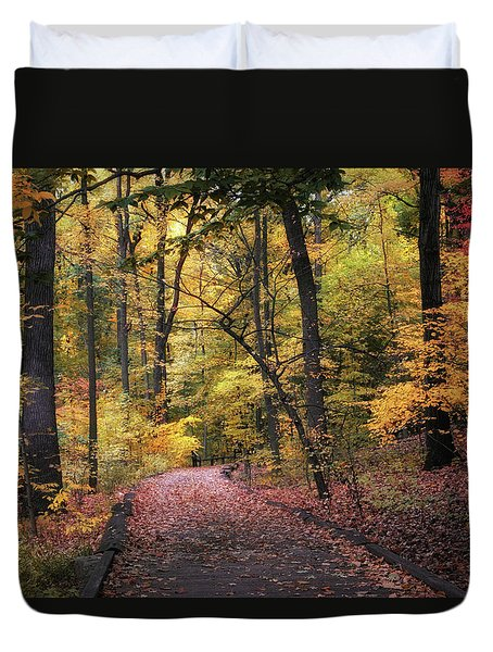 Duvet Cover featuring the photograph The Thain Forest by Jessica Jenney