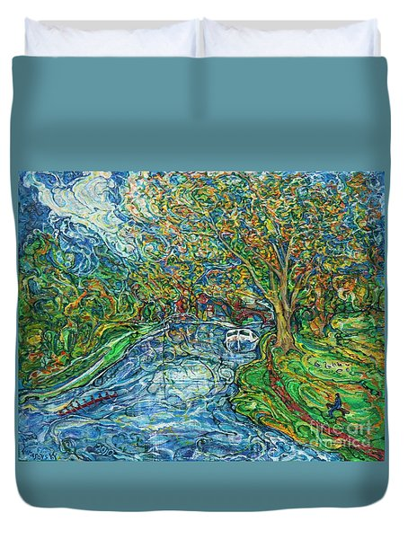 The Thames At Oxford Duvet Cover