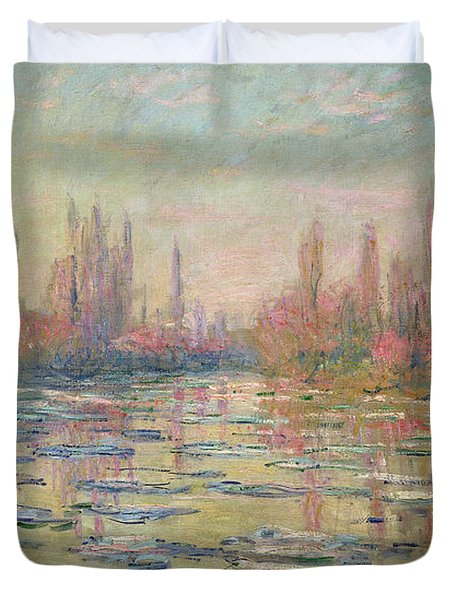 The Thaw On The Seine Duvet Cover by Claude Monet