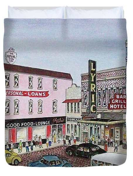 The Theater District Portsmouth Ohio 1948 Duvet Cover