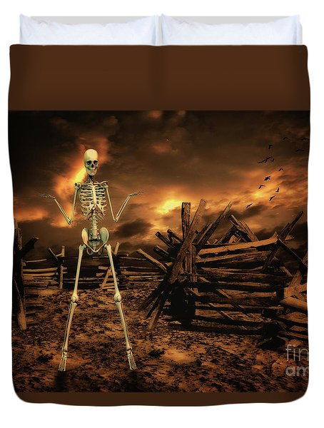 The Theatre Of War Duvet Cover
