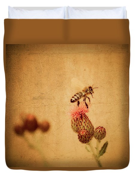 The Thistle And The Bee Duvet Cover