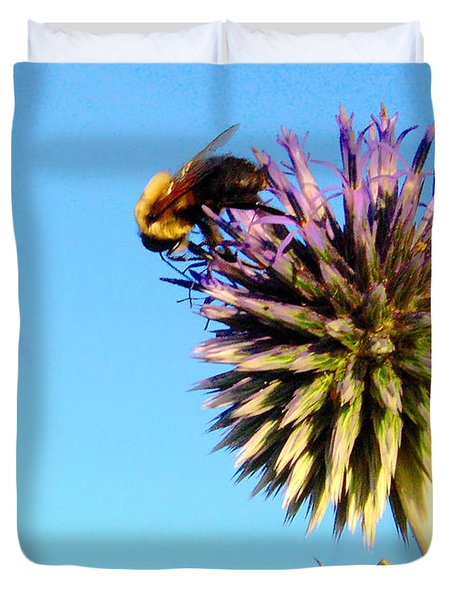 The Thistle And The Bee. Duvet Cover