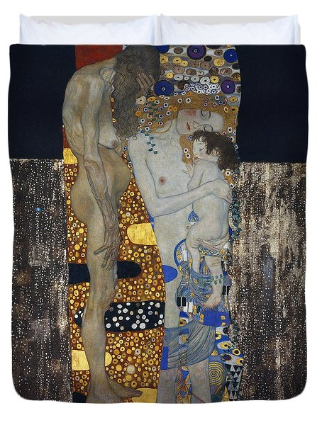 The Three Ages Of Woman Gustav Klimt Duvet Cover