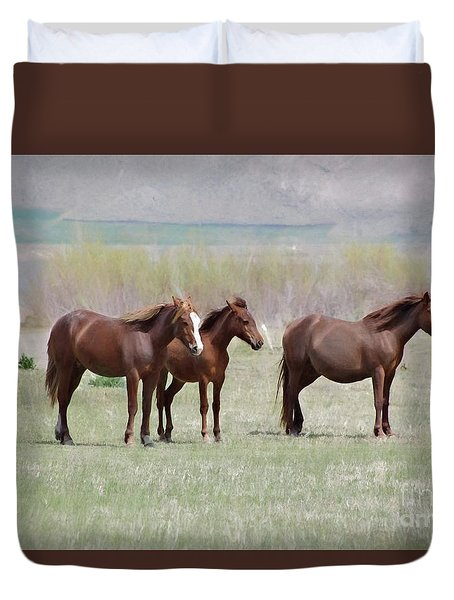 Duvet Cover featuring the photograph The Three Amigos by Benanne Stiens