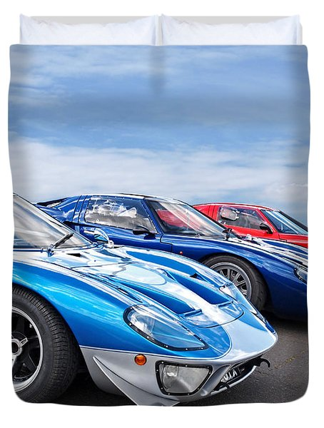 The Three Amigos Ford Gt  Duvet Cover