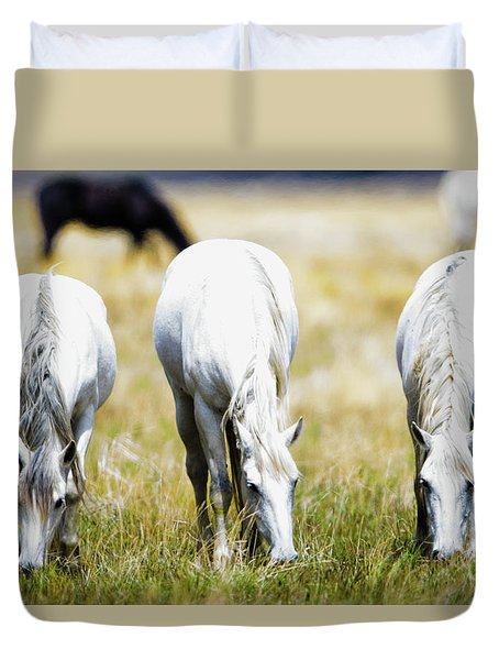 The Three Amigos Grazing Duvet Cover