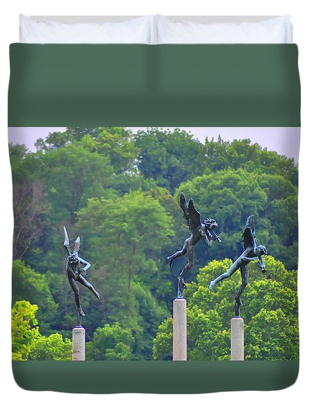 The Three Angels Duvet Cover by Bill Cannon