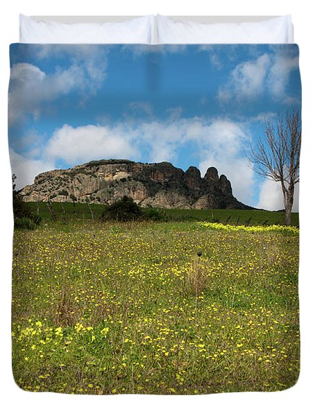The Three Finger Mountain Duvet Cover