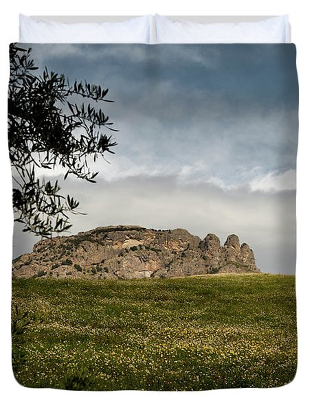 Italy, Calabria, Cimina,the Three Fingers Duvet Cover