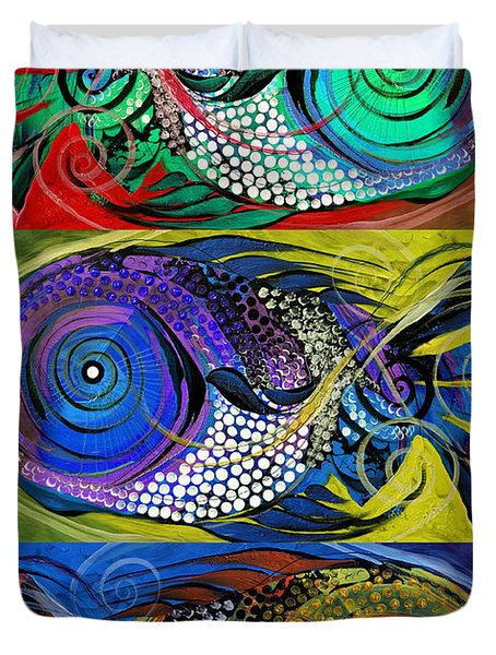 The Three Fishes Duvet Cover