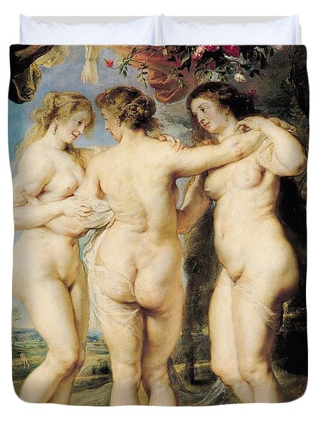 The Three Graces Duvet Cover by Peter Paul Rubens