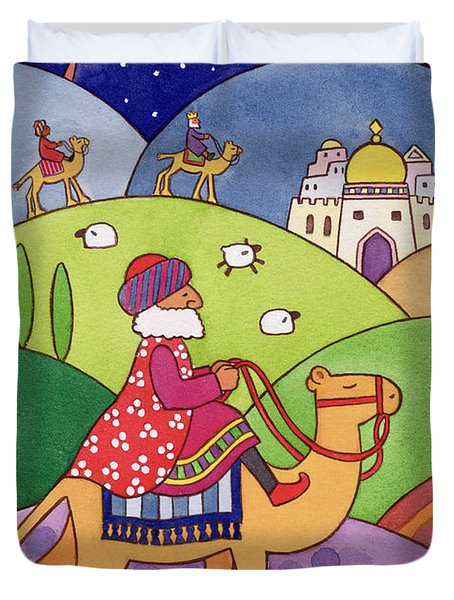 The Three Kings Duvet Cover by Cathy Baxter