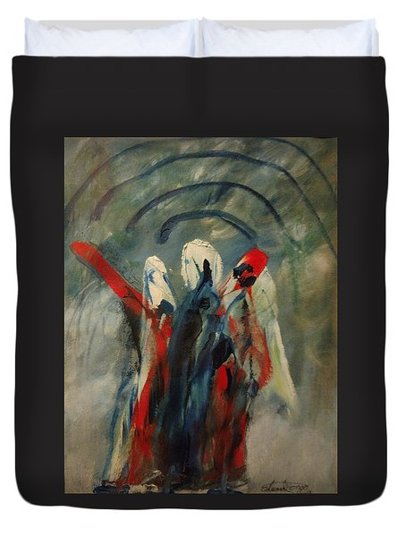 The Three Kings Of Christmas Duvet Cover