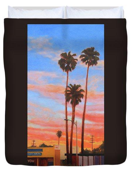 The Three Palms Duvet Cover by Andrew Danielsen