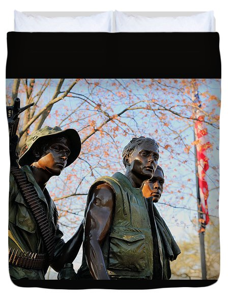 The Three Soldiers Duvet Cover