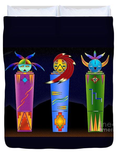 The Three Spirits Duvet Cover