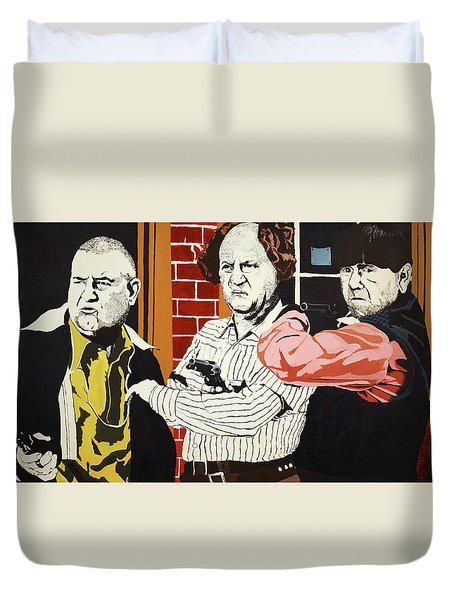 The Three Stooges Duvet Cover