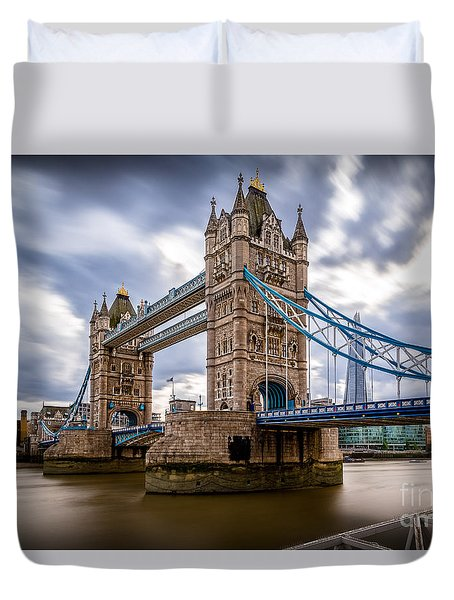 The Three Towers Duvet Cover by Giuseppe Torre
