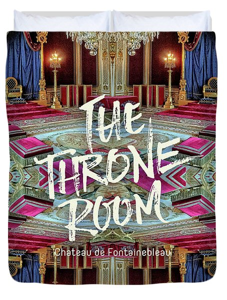 The Throne Room Fontainebleau Chateau Gorgeous Royal Interior Duvet Cover