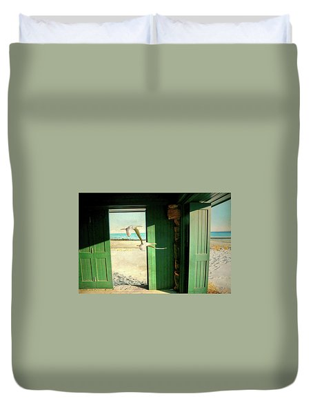 Duvet Cover featuring the photograph The Thruway by Diana Angstadt