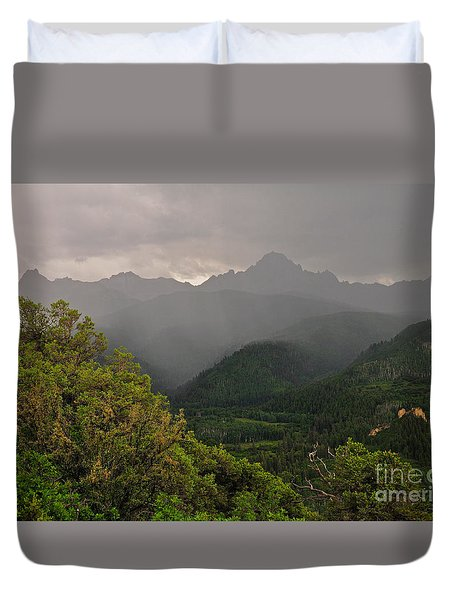 The Thunder Rolls Duvet Cover