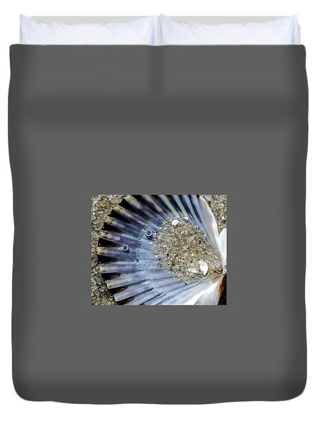 Duvet Cover featuring the photograph The Tides Edge by Bruce Carpenter