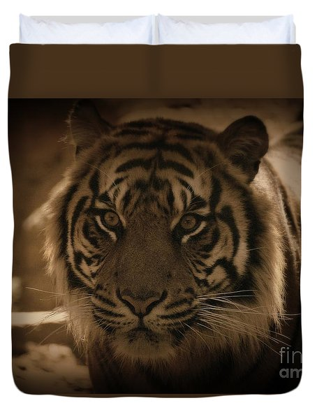 Duvet Cover featuring the photograph The Tiger by Lisa L Silva